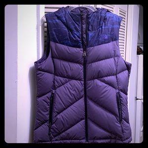 Puffy Vest women's-The North Face- Sz L purple